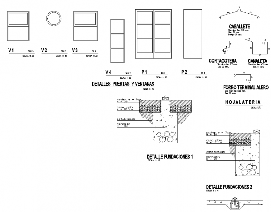 Ventilation and construction drawing in dwg file.