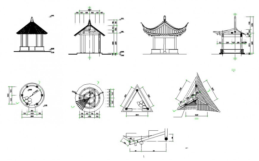 Verandas detail of a chinese architecture