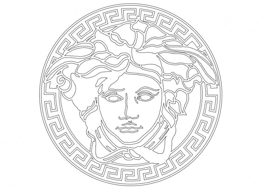 Versase logo elevation block cad drawing details dwg file