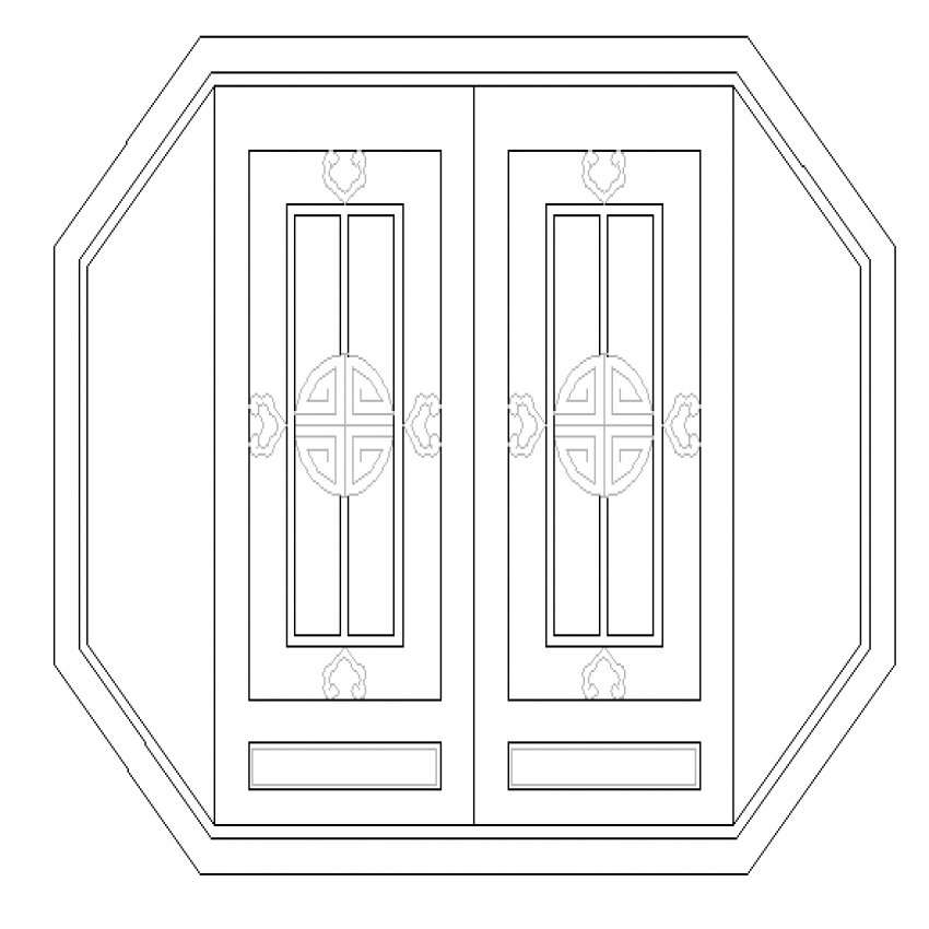 Very beautiful window cad blocks design dwg file