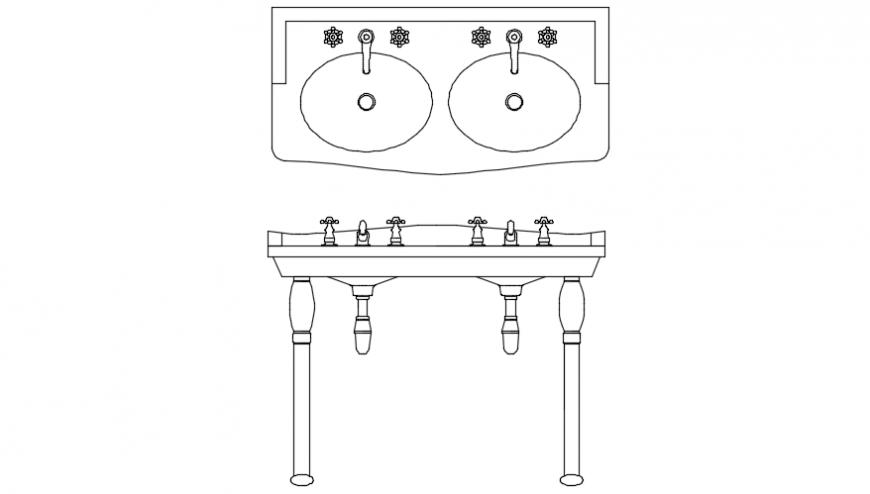 Victoria double console and basin