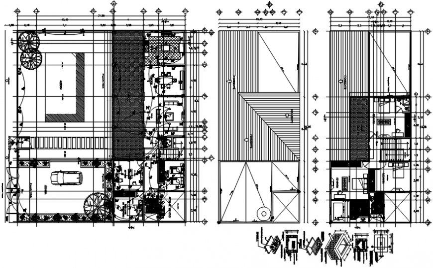 Villa electrical installation layout plan dwg file