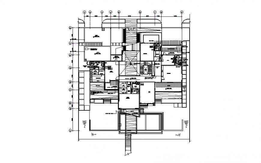 Villa first floor water service layout file