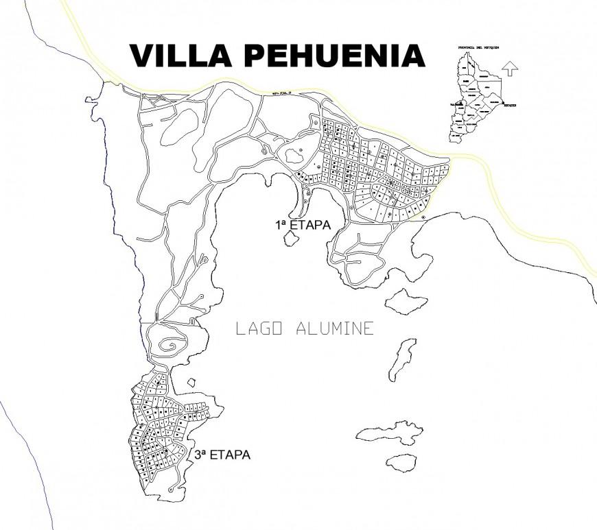Villa house plan layout file
