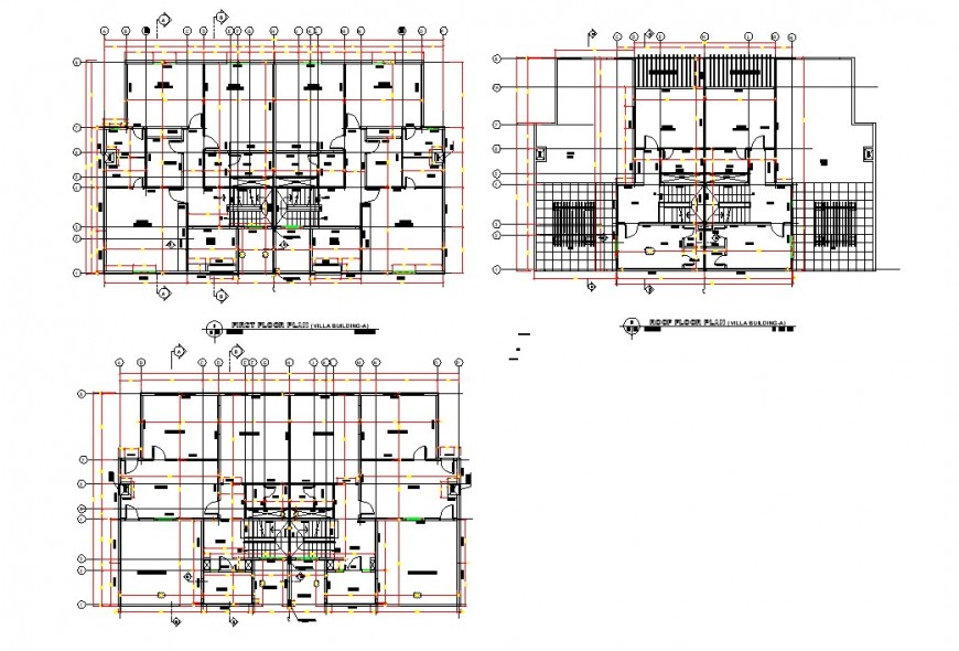 Villa project planning autocad file
