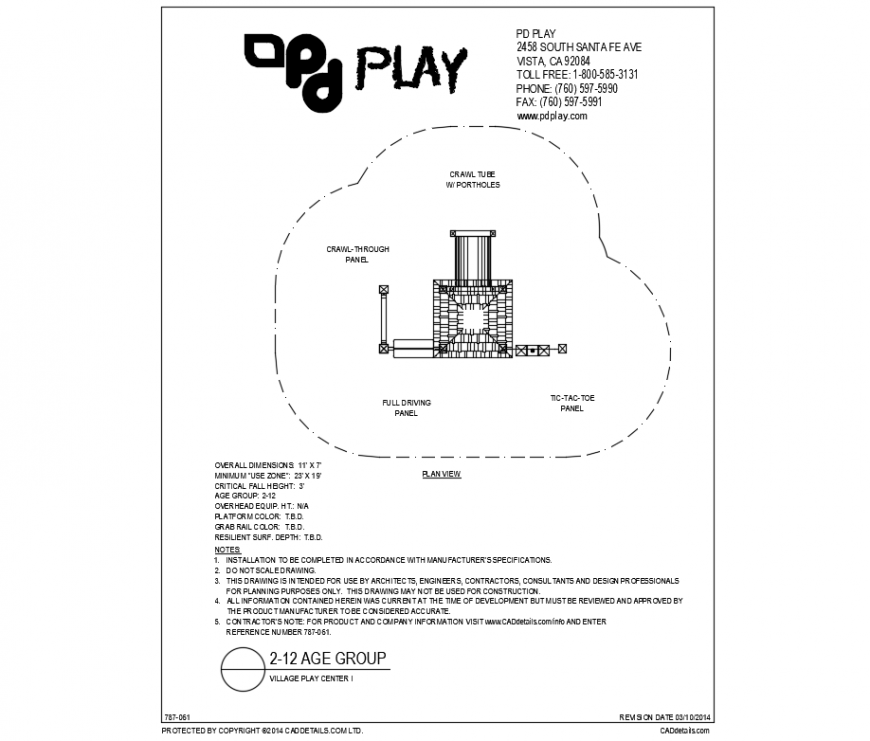 Village play center ride equipment details of park dwg file