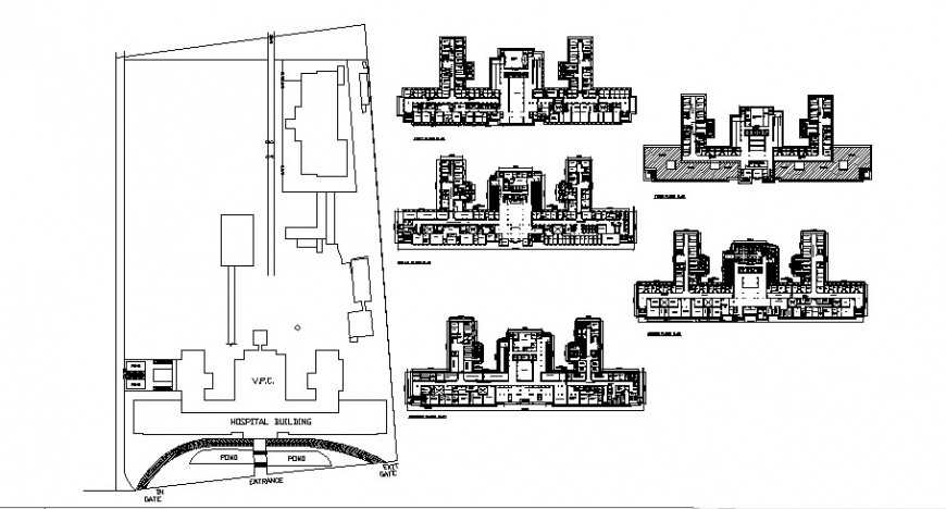 Vivekanad poly clinic and medical science institute detail drawing in dwg AutoCAD file.