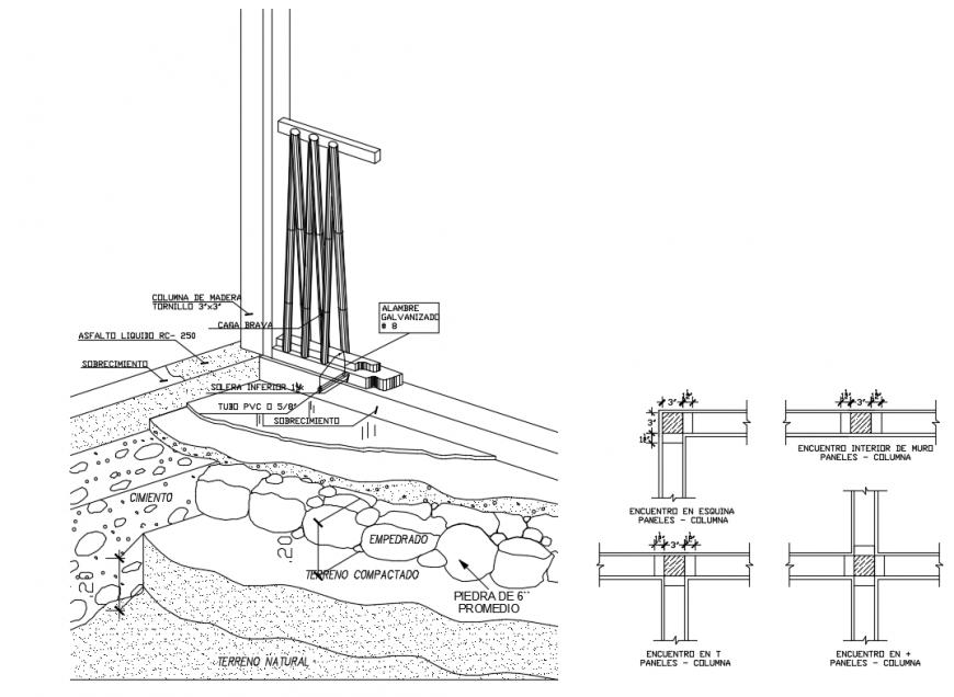 Vivinda housing landscaping details of pedestal constructive details dwg file