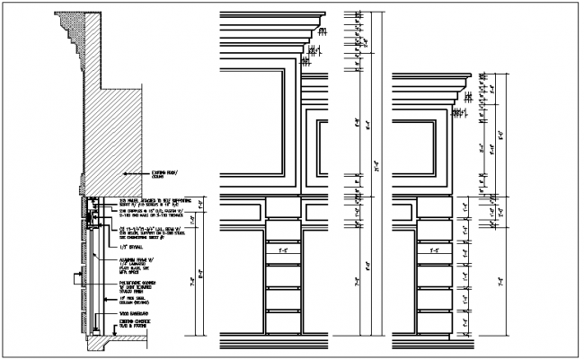 wall framing details of the dwg files