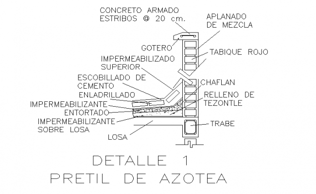wall section detail drawing