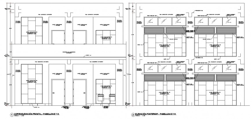 Wall detail elevation dwg cad file