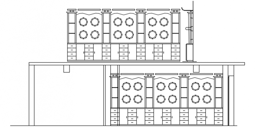 Dynamic Multiple Chairs Elevation Cad Blocks Details Dwg