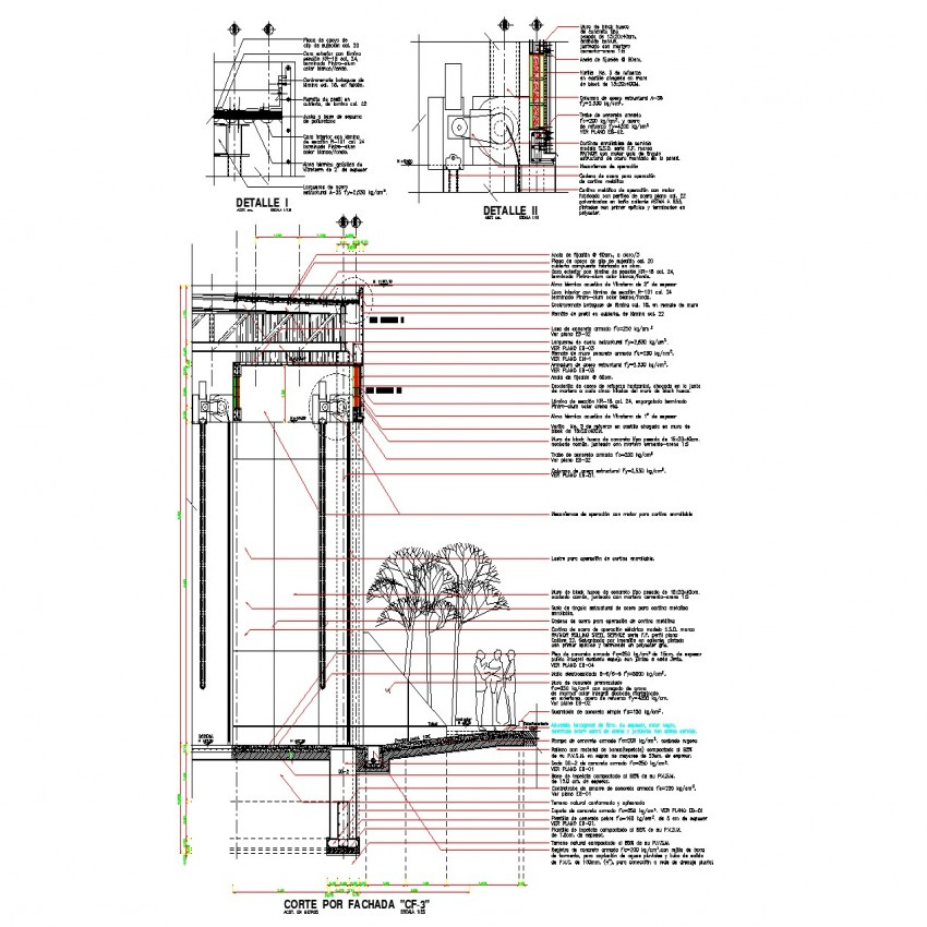 Ware house section details in dwg file.