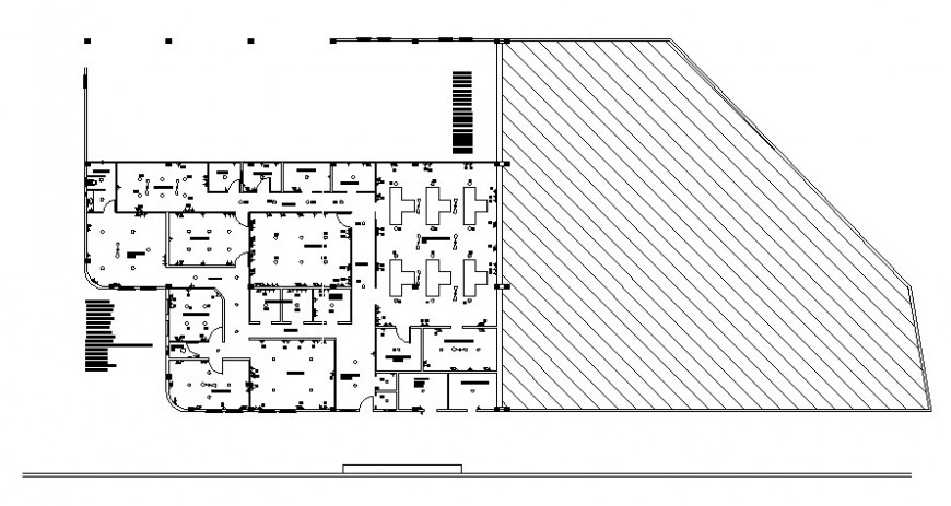 Warehouse for industry distribution plan drawing details dwg file