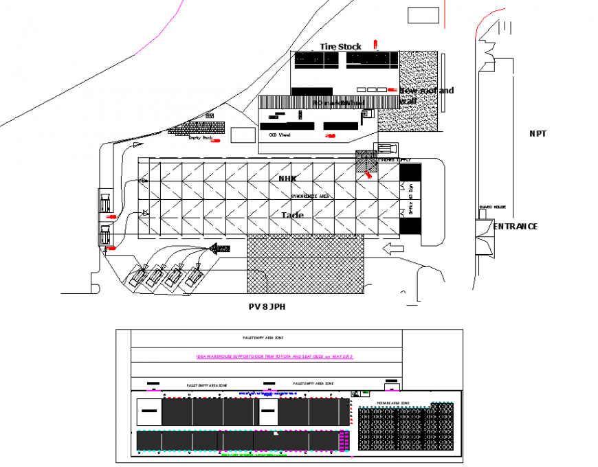 Warehouse support door from royora and seat isuzu detail dwg file
