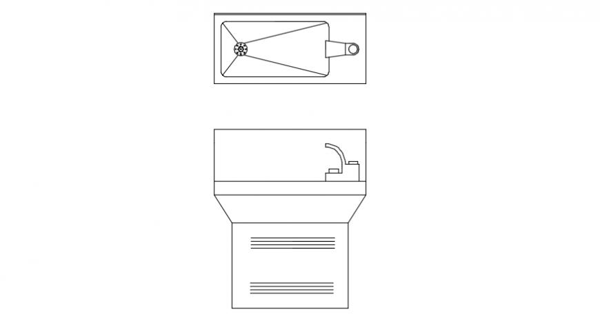 Wash  basin sectional details file