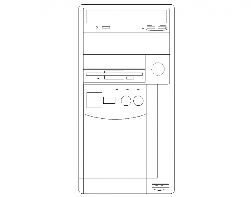 Washing machine front elevation block cad drawing details dwg file