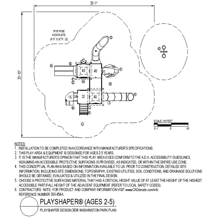 Washington Park plan layout file