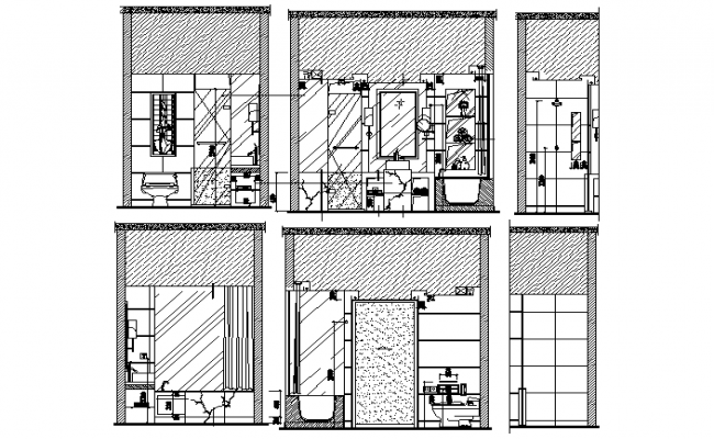 washroom elevation dwg file .
