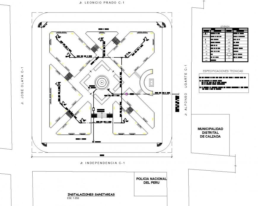 Water plumbing pipe line layout file