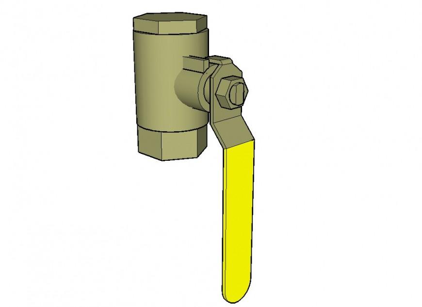Water pump operator handle 3d model