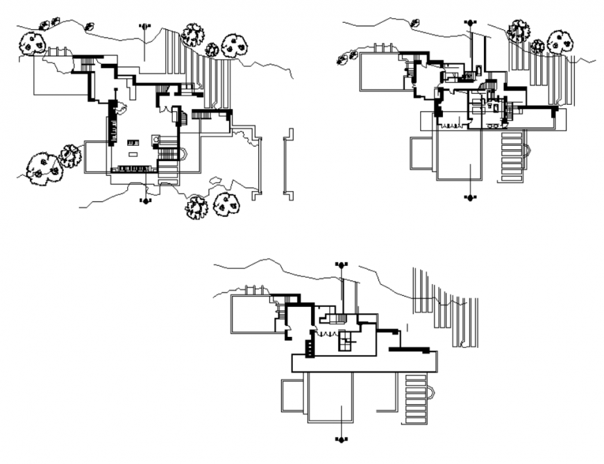 Water pumping unit detail elevation and plan layout dwg file