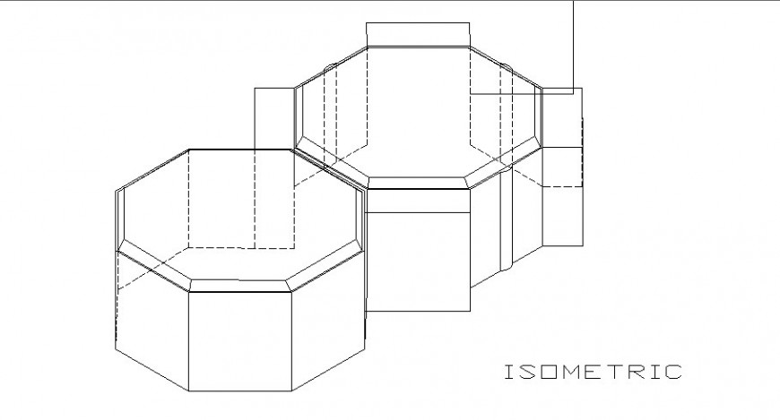 Water tank for paver isometric elevation cad drawing details dwg file