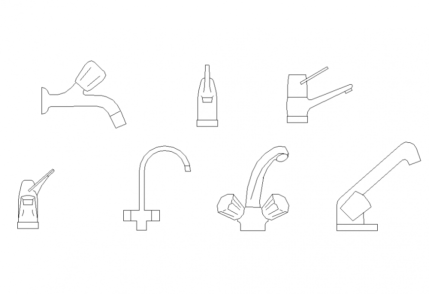 Water Tap detail autocad file