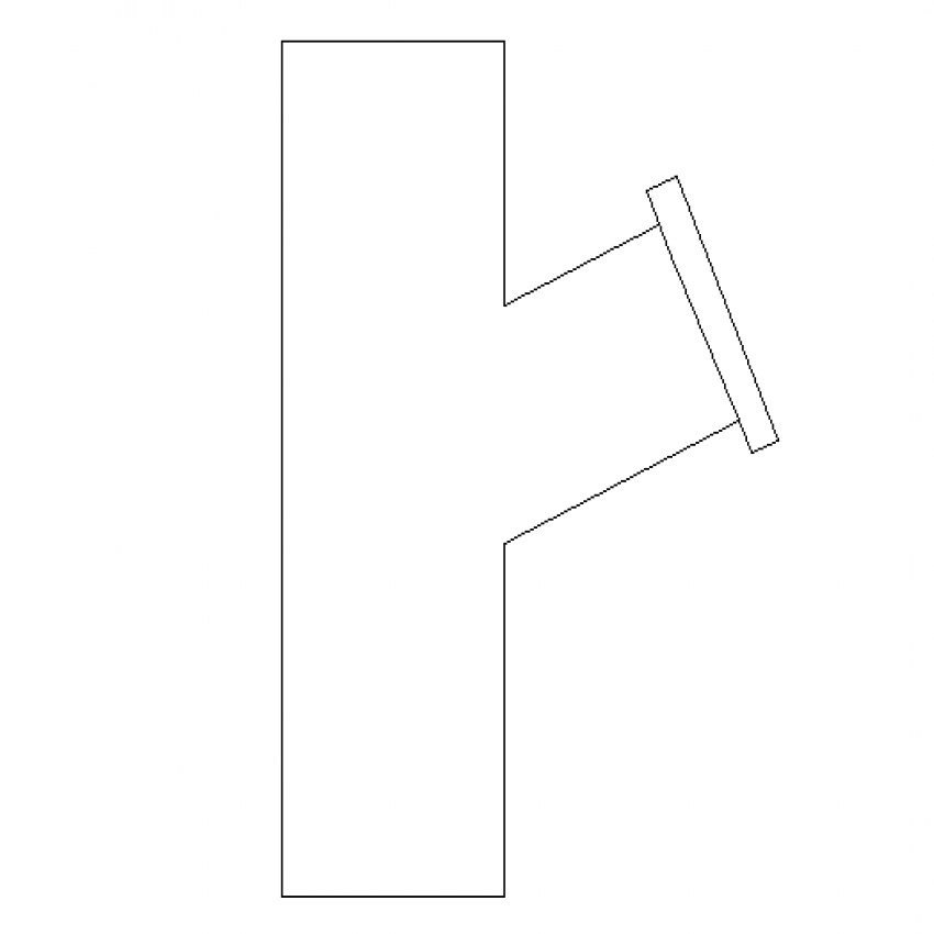 White strainer side view cad block design dwg file