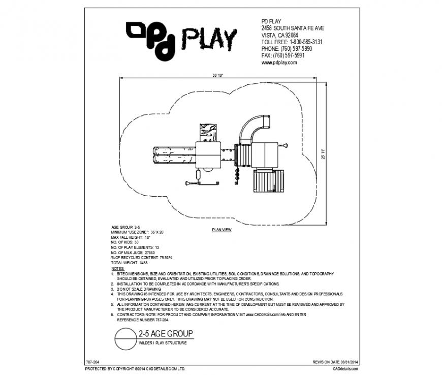 Wilder stair type play equipment details of garden dwg file