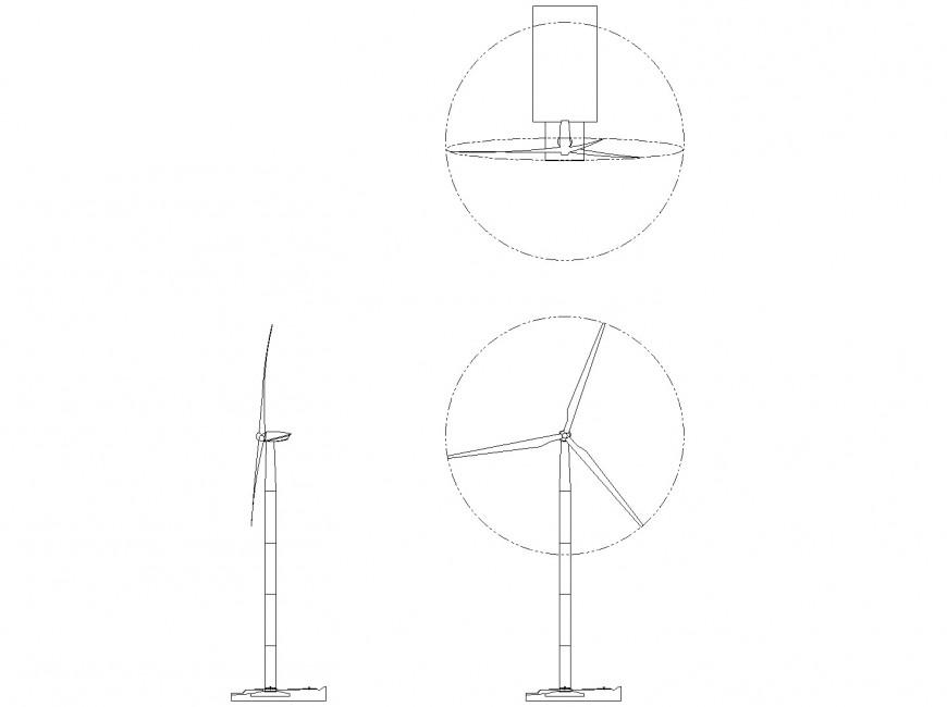 Wind Turbine plan autocad file