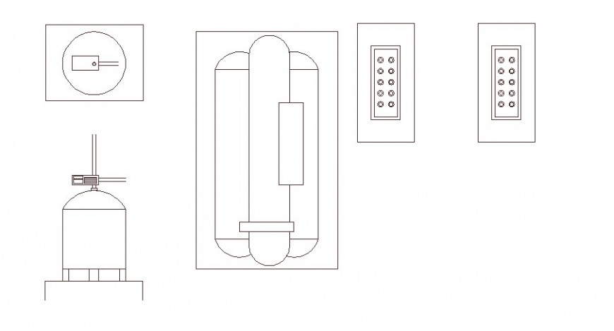 Window and fire safety window elevation block cad drawing details dwg file