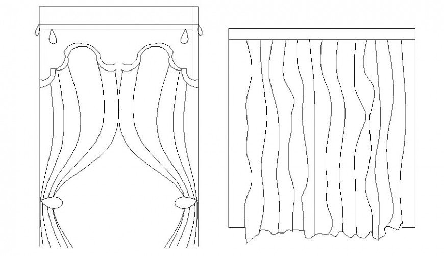 Window curtain drawing 2d view in autocad