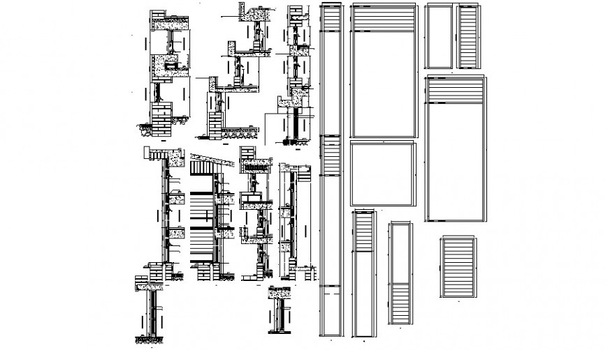 window detail with sectional view cad file