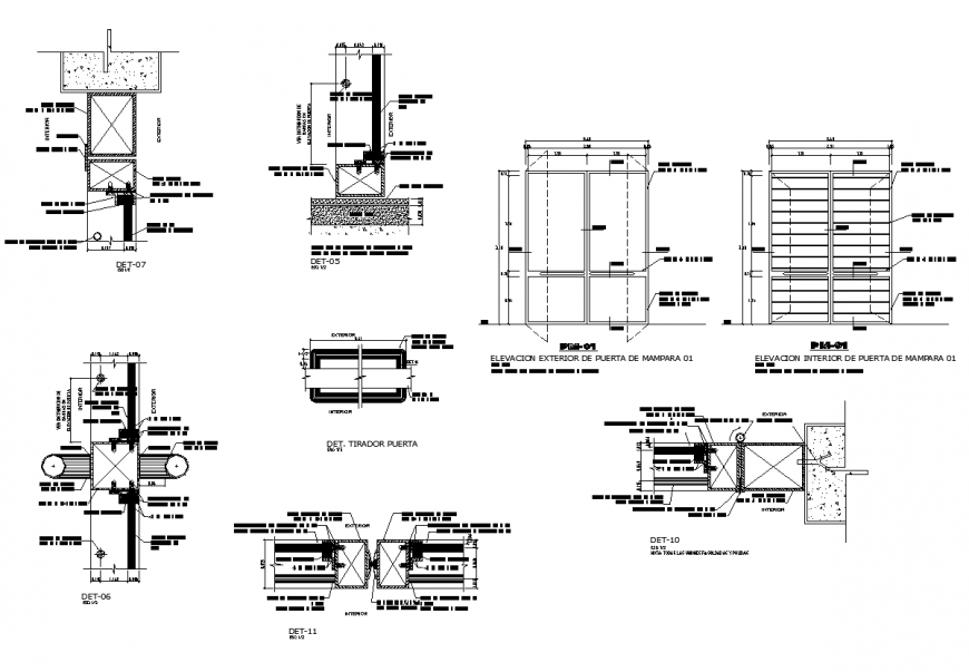 Window elevation and section 2d view layout dgw file