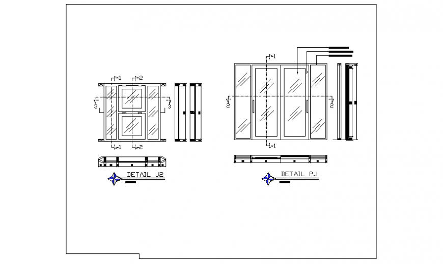 Window section detail design of single family house design drawin