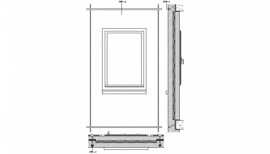 Window Sectional detail 2d