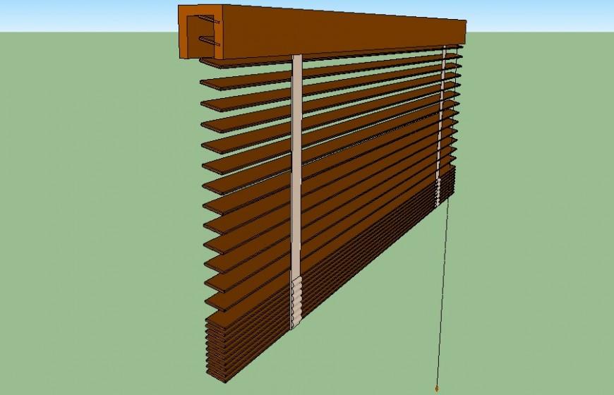 Window shutter detail 3d model sketch-up file