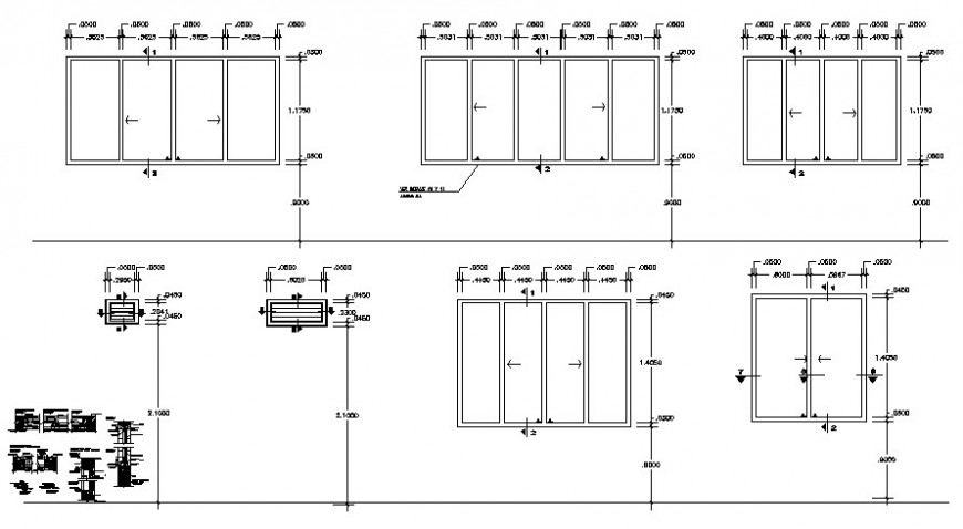 Window units design details 2d drawing in autocad