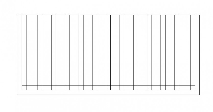 Wooden bench top view elevation design block dwg file