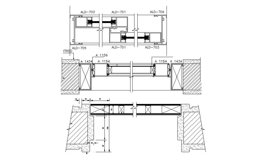 Wooden door openings and installation cad drawing details dwg file