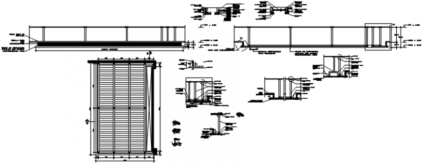 Wooden doors for office elevation and installation drawing details dwg file