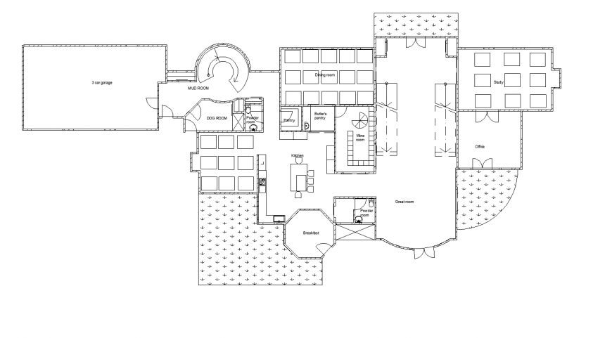 Wooden house detail construction layout plan in dwg AutoCAD file.