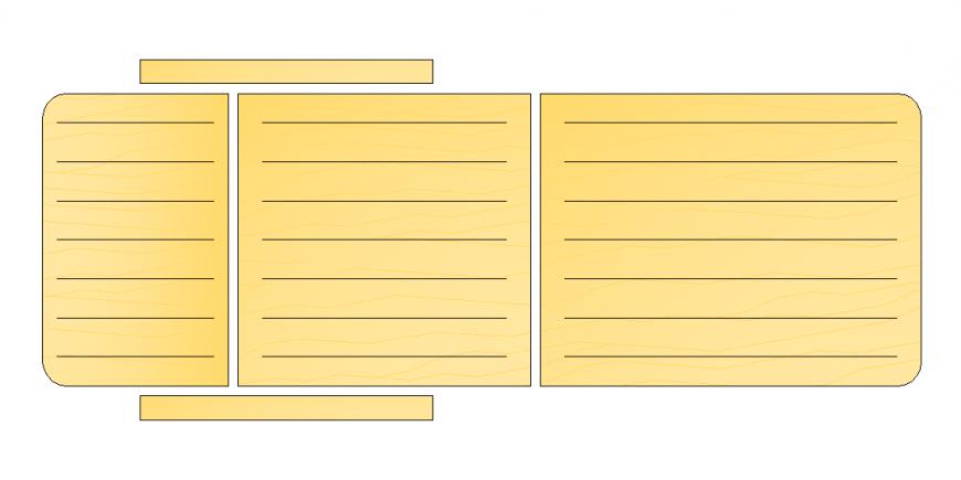 Wooden pattern design in rest chair plan dwg file
