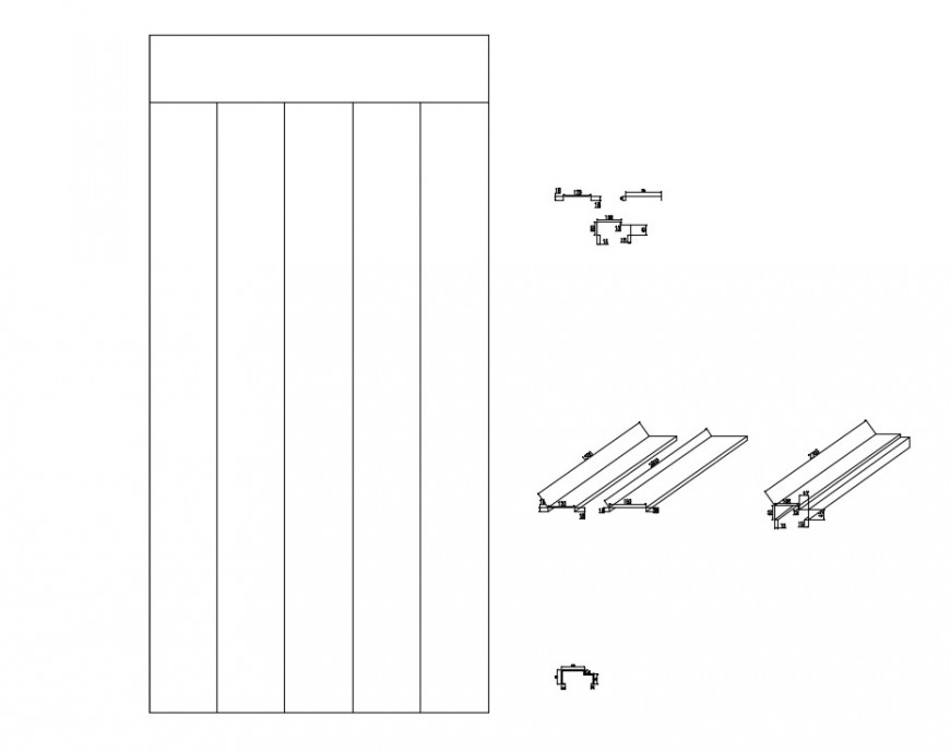 Wooden planks 2d drawings CAD blocks dwg file