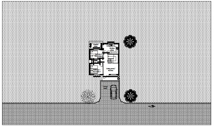 Work plan of the residential house drawing in autocad