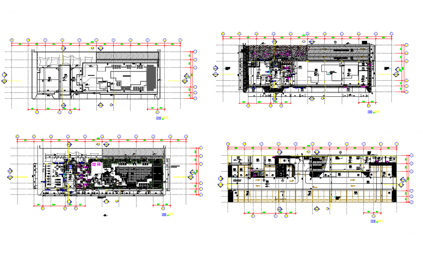 Working commercial building hub planning layout file