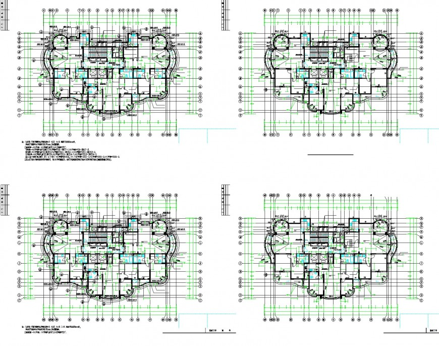 Working commercial building plan layout file
