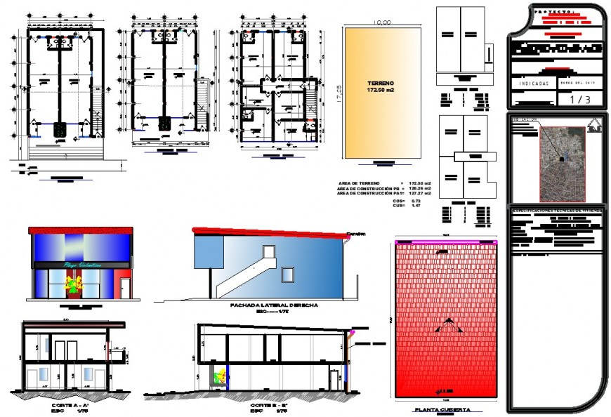 Working drawing of home 3d in cad file
