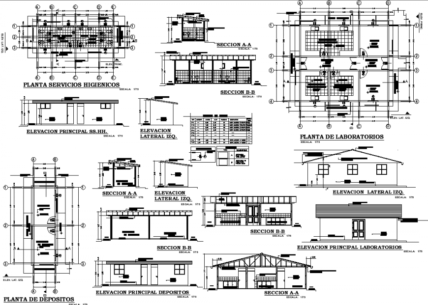 Working drawing of house in dwg file.